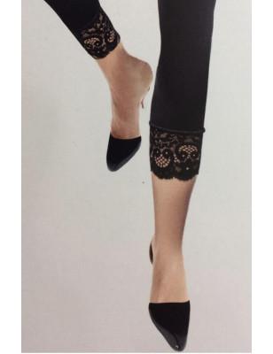 Collant Opaque sans pieds dentelle