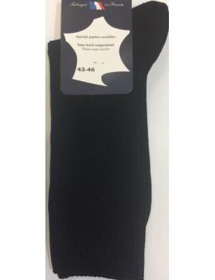Chaussettes Vintage Fil D'ecosse non comprimante noir
