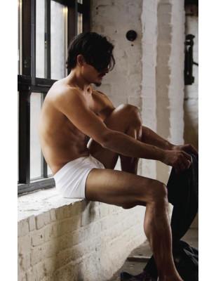 Hom Boxer Cotton premium blanc profil pur