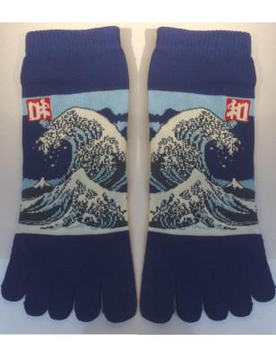 Chaussettes 5 Doigts Vagues D'Hokusai