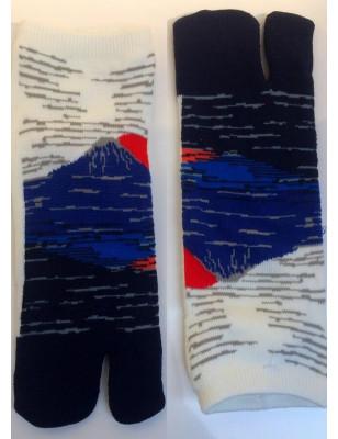 Chaussettes Tabis Mont Fuji Bleu