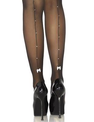 Bas JArretelles couture strassé Leg Avenue
