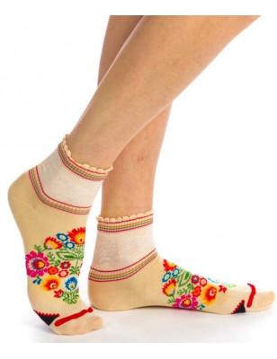 Socquettes Fleuries squaw Fil de joie