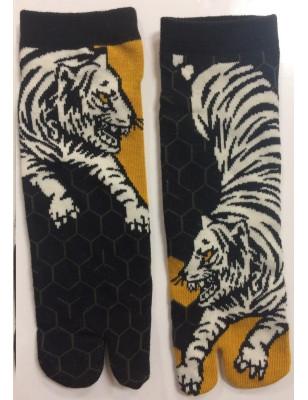 Socquettes Tabis Combat de tigres