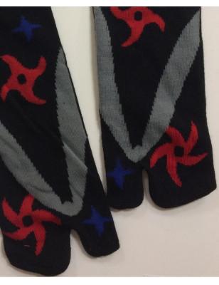 Chaussettes Tabis Etoiles et Shurikens de ninjas