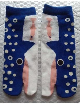 Socquettes Tabis Baleine Bleue