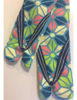 Chaussettes japonaise Tabis kaliedoscope fleuri