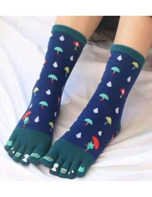 chaussettes 5 doigts grenouille parapluie