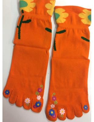 Chaussettes 5 doigts Fleurs exotiques