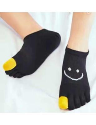 Socquettes 5 Doigts Smile sur le pouce noires