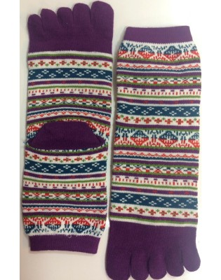 Chaussettes 5 Doigts Patchwork hot couture