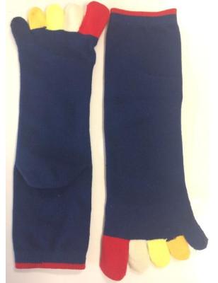 Chaussettes 5 doigts Bleues Doigts Couleurs