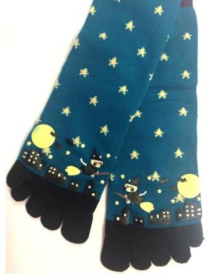 Chaussettes 5 doigts Sorcières nuit étoilée