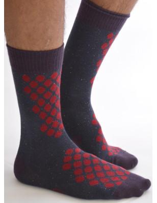 Chaussettes homme Berthe aux Grands pieds pois rouge