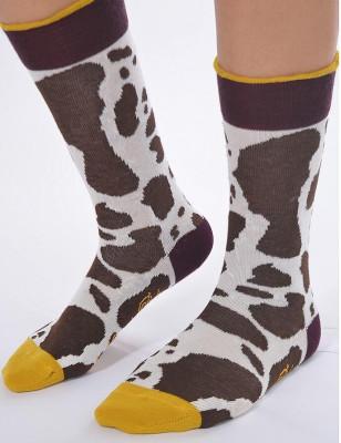 Chaussettes Berthe aux grands pieds vache Normande
