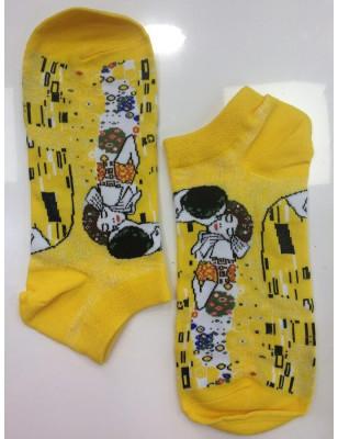 Socquette Coton Le baiser de Klimt