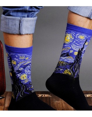 art socks Van Gogh the night