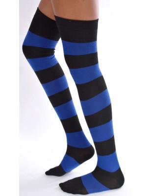 Jambières coton rayées Noires et bleues