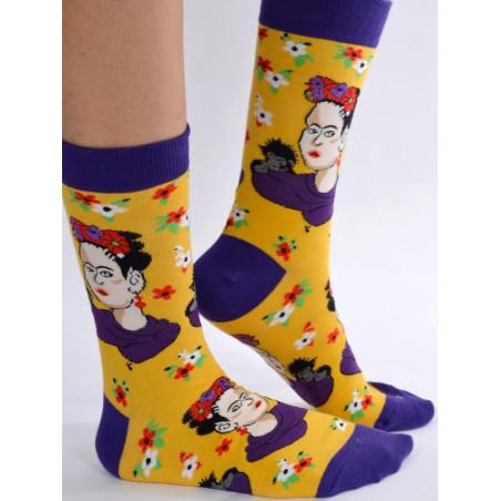 Chaussettes jaune Frida kahlo