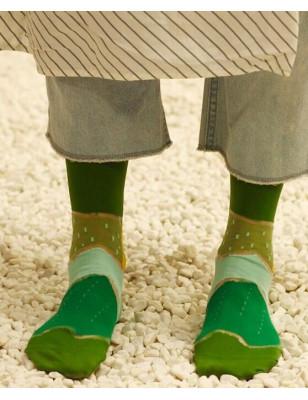 Coffret de chaussettes transparentes tendances