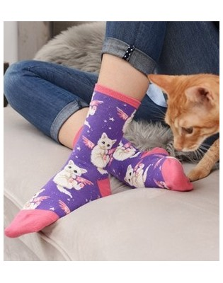 chaussettes petits chatons anges