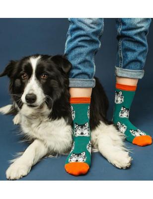 Chaussettes délire chien loup