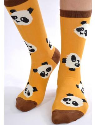 Chaussettes moutarde Pandas