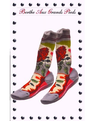 Chaussons Berthe Long Roses
