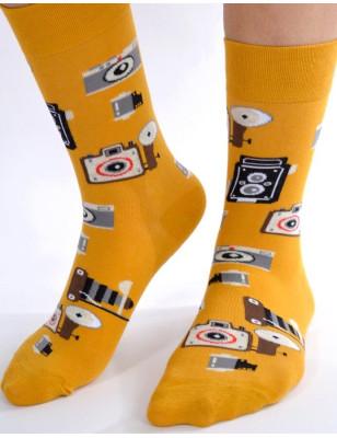 Chaussettes pop appareils photos
