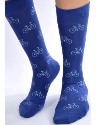 Chaussettes bleues vélos pop art