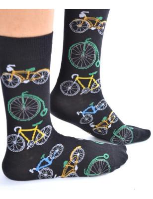 Chaussettes vélos retro pop art