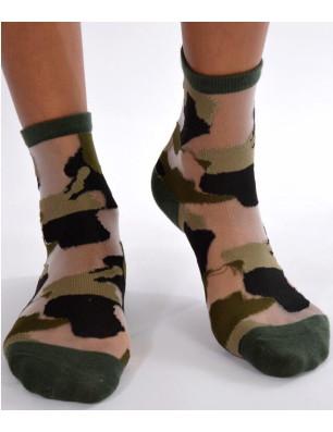 Chaussettes sensuel camouflage chic vert foret