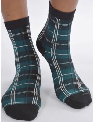Chaussettes Vertes carreaux écossais