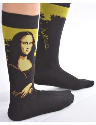 Chaussettes Mona Lisa selon Leonard de Vinci