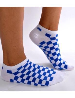 Socquettes Carreaux vichy bleues