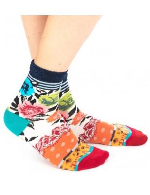 Chaussettes Velvet à Fleurs Dub et Drino