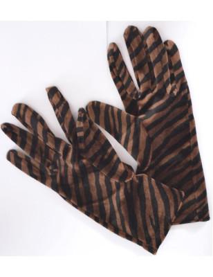 Gants imprimés ixli zebres bruns