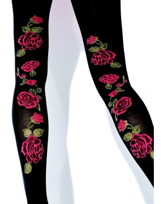 collant opaque jolis roses