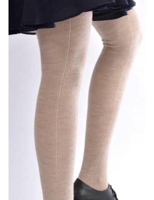 Collant laine naturelle