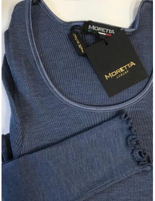 T shirt Manches longues Moretta 5309 Bleu ocean
