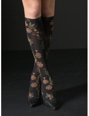 chaussettes fleuries opaque Voilà
