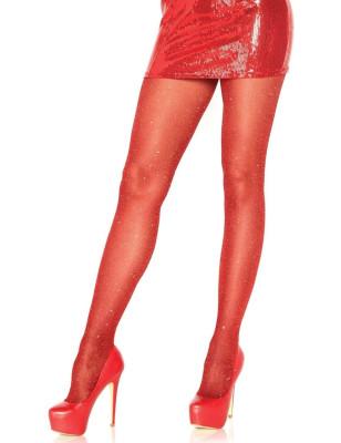Collant lurex brillant rouge leg avenue 7130
