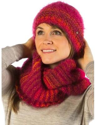 Ensemble Clotilde En laine echarpe et bonnet