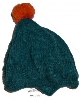 Bonnet en mohair bonnefoy pompom