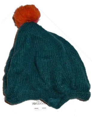 Bonnet en laine mohair bleu cobalt