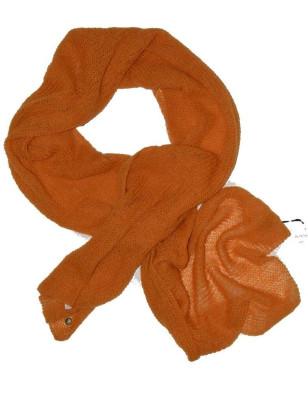 Echarpe en laine mohair rouge bordeaux marine