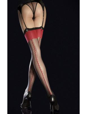 Bas Chic couture de cabaret rouge