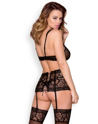 lingerie obsessive ensemble triangle porte jarretelles strings