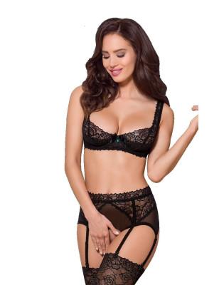 Ensemble lingerie séduction soutien gorge et porte jarretelles