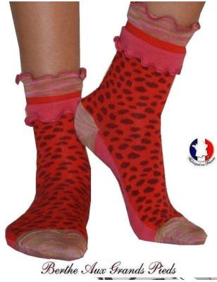 cHAUSSETTES Berthe aux grands pieds frou frou léopard